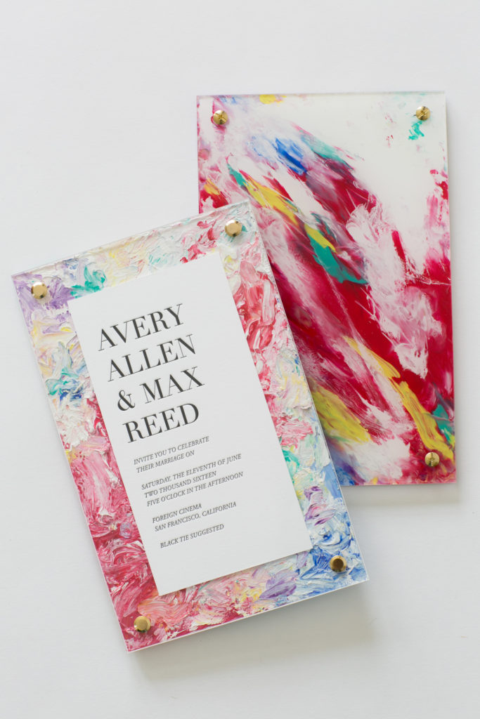 Modern Painting invitation by Yonder Design