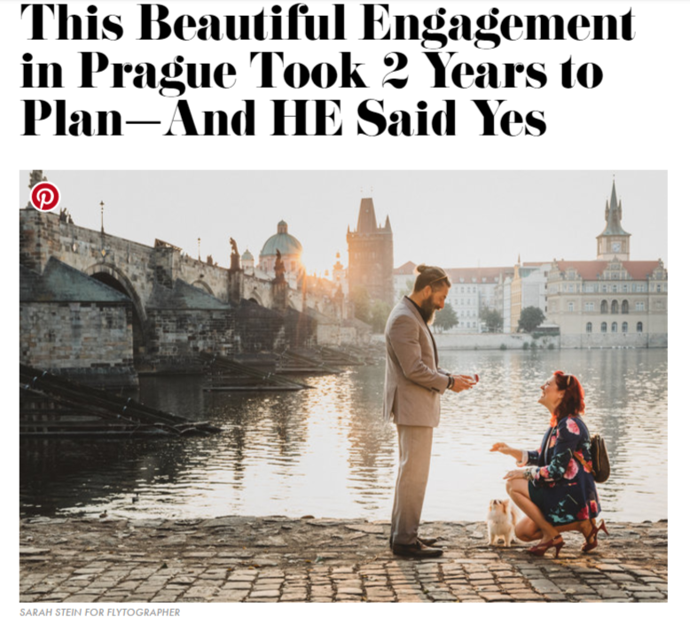 travel blogger Sonja Lishchynski Prague engagement